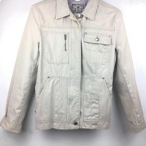 Caribbean Joe Woman's Jacket Beige Sz. S Zippers